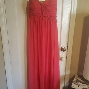 Calvin Klein long strapless maxi dress